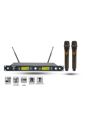 Roof R-1250S İkili Telsiz El Mikrofonu