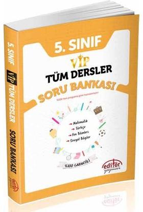 Editör Yayınları 5.Sınıf Vip Tüm Dersler Soru Bankası - Turgut Meşe