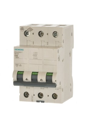 Siemens 3 Fazlı Otomatik Sigorta - C3x10Ax6kA