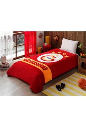 Taç Lisanslı Galatasaray Sarı Kırmızı Tek Kişilik Battaniye
