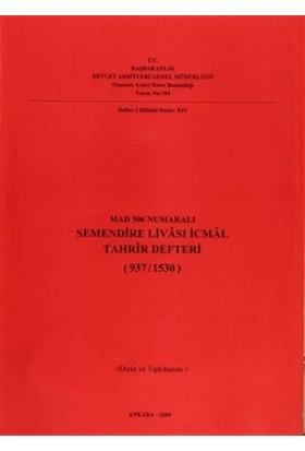 Mad 506 Numaralı Semendire Livası İcmal Tahrir Defteri (937 /1530)