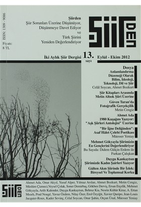 Şiirden İki Aylık Şiir Dergisi Sayı: 13