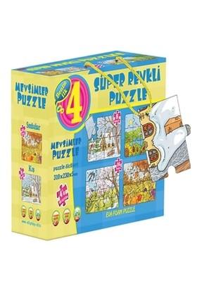 Mevsimler 4'ü Bir Kutuda Süper Renkli Puzzle