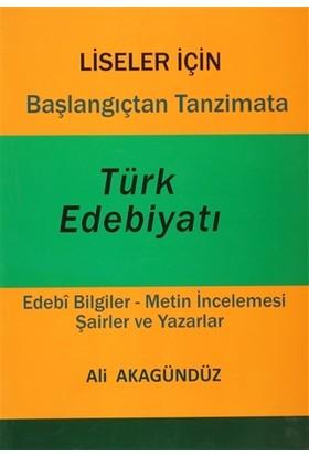 Başlangıçtan Tanzimata Türk Edebiyatı