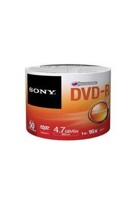 Sony 4.7Gb 120Dk. 16X Boş (Dvd-R) 50Li Paket