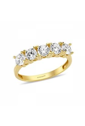 Sembolgold 8 Ayar 5 Taş Altın Yüzük Zirconia Taşlı Sg42-0052050