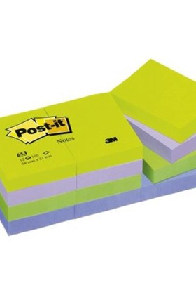 3M 653 Mt 38X51 Post-It Mınt Yeşil 12 Li