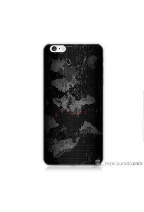 Teknomeg iPhone 6 Kapak Kılıf Harita Baskılı Silikon