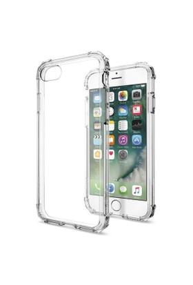 Spigen Apple iPhone 8 - iPhone 7 Kılıf Crystal Shell Crystal Clear - 042CS20306