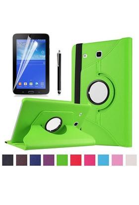 Kılıfland Samsung Galaxy Tab 3 Lite Kılıf 360 Standlı Yeşil+Film+Kalem