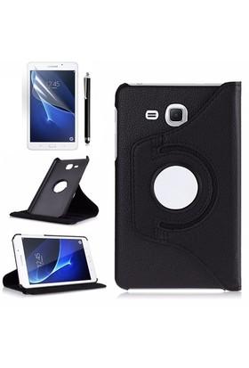 Kılıfland Samsung Galaxy Tab A T280 Kılıf 360 Standlı Siyah+Film+Kalem