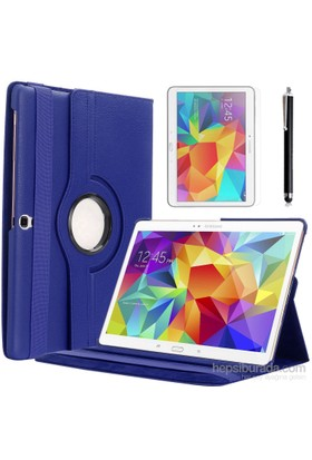 Kılıfland Samsung Galaxy Tab S T700 Kılıf 360 Standlı Lacivert+Film+Kalem