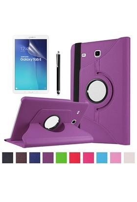 Kılıfland Samsung Galaxy Tab E T560 Kılıf 360 Standlı Mor+Film+Kalem