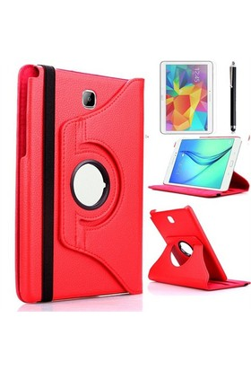 Kılıfland Samsung Galaxy Tab S2 T810 Kılıf 360 Standlı Kırmızı+Film+Kalem
