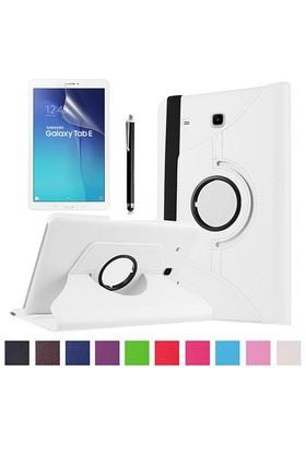 Kılıfland Samsung Galaxy Tab E T560 Kılıf 360 Standlı Beyaz+Film+Kalem