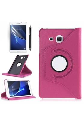 Kılıfland Samsung Galaxy Tab A T280 Kılıf 360 Standlı Pembe+Film+Kalem