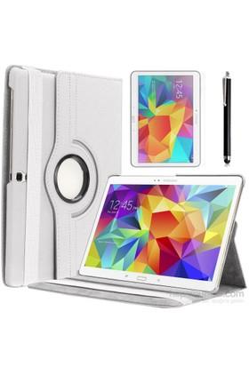 Kılıfland Samsung Galaxy Tab S T800 Kılıf 360 Standlı Beyaz+Film+Kalem