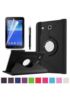Kılıfland Samsung Galaxy Tab 3 Lite Kılıf 360 Standlı Siyah+Film+Kalem