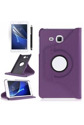 Kılıfland Samsung Galaxy Tab A T280 Kılıf 360 Standlı Mor+Film+Kalem