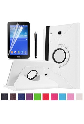 Kılıfland Samsung Galaxy Tab 3 Lite Kılıf 360 Standlı Beyaz+Film+Kalem