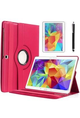 Kılıfland Samsung Galaxy Tab S T800 Kılıf 360 Standlı Pembe+Film+Kalem