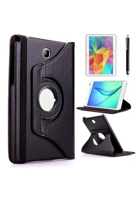 Kılıfland Samsung Galaxy Tab 4 T530 Kılıf 360 Standlı Siyah+Film+Kalem