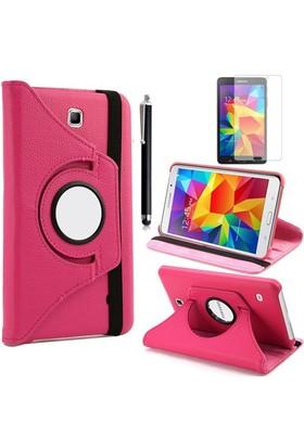 Kılıfland Samsung Galaxy Tab 4 T230 Kılıf 360 Standlı Pembe+Film+Kalem