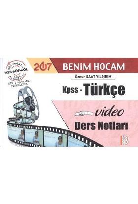 Benim Hocam Yayınları Kpss 2017 Türkçe Video Ders Notları