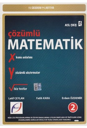 Fasikül Yayınları Acil Çıkış Çözümlü Matematik 2