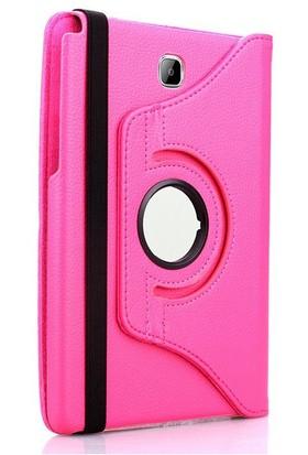 Exclusive Phone Case Samsung Galaxy Tab A T350 Kılıf 360 Standlı Pembe+Film+Kalem