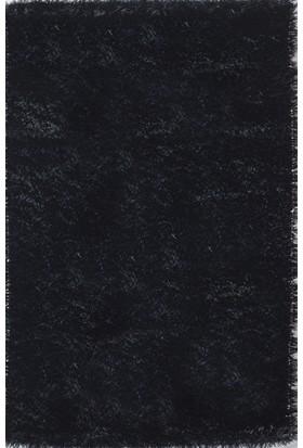 Je Veux Home Lux Shaggy Siyah Halı 80x300 cm