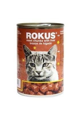 Rokus Ciğerli Kedi Konserve Mama 410 gr