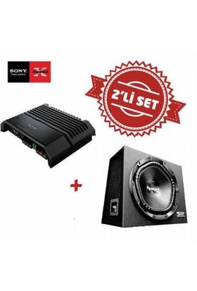 Sony XM-GS4 4 kanal Amfi ,XS-NW1202E Kabinli Subwoofer Seti