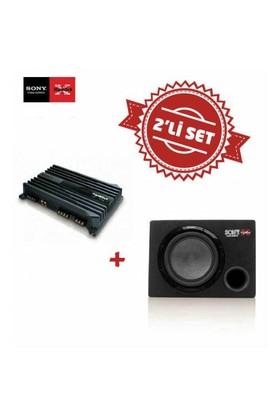 Sony XM-N1004 4 kanal Amfi ,XS-GSW121 Kabinli Subwoofer Set