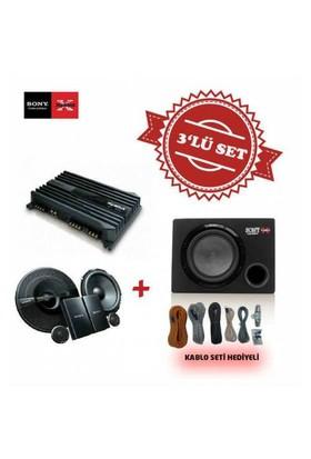 Sony XM-N1004 4 kanal Amfi , XS-GSW121 Kabinli Subwoofer , XS-GS1621C Mid Takım Set
