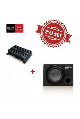 Sony XM-N502 2 yollu Amfi ile XS-GSW121 Kabinli Subwoofer Set