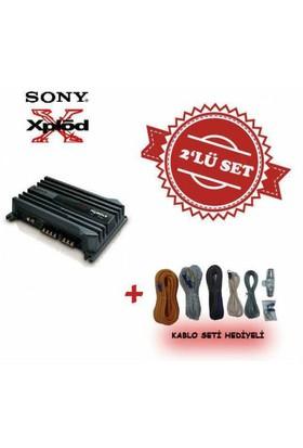 Sony XM-N502 2 yollu Amfi ile Kablo Seti