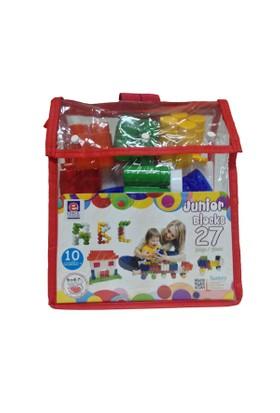 Akallı Oyuncak 05-169 Junior Block 27 Parça Pvc Çanta