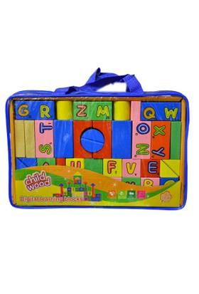 Bircan Oyuncak 946Tt-2522 Çantalı Ahşap Blok Set