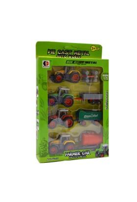 Erkol Oyuncak 1801C-3 Kt.Farmer Car 4'lü