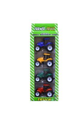 Erkol Oyuncak 798-A113 Kutu Traktör 4'lü