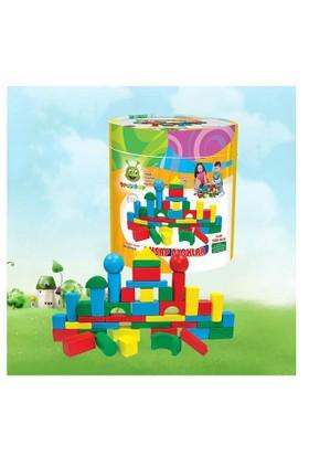 Karsan Oyuncak 014Kr Woodoy 80 Parça Büyük Kovalı Bloklar