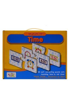 Kızılkaya 55081 Karton Puzzle Saat Öğrenme Puzzle