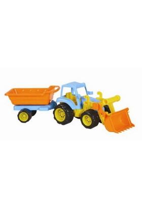 Mgs Oyuncak 0411 Traktör Römorklu Ve Kepçeli