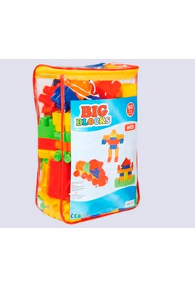 Mgs Oyuncak 0711 Big Blocks Lego 93 Parça Sırtçantalı