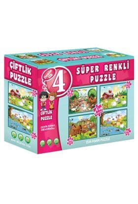 Taba Grup 3222 Çiftlik Süper Renkli Puzzle 4'lü