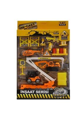 Vardem Oyuncak 6602-5-20 Dıe Cast 20 Parça Araç Set