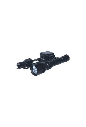 Cfl El Feneri Şarjlı Metal Bt-802