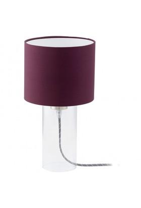 Eglo Alvi Masa Lambası Şeffaf/Mor E27 92516