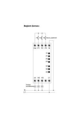 Kael Ke-Hsr2 2 Çıkışlı Hidrofor Sıralama Rölesi 230V